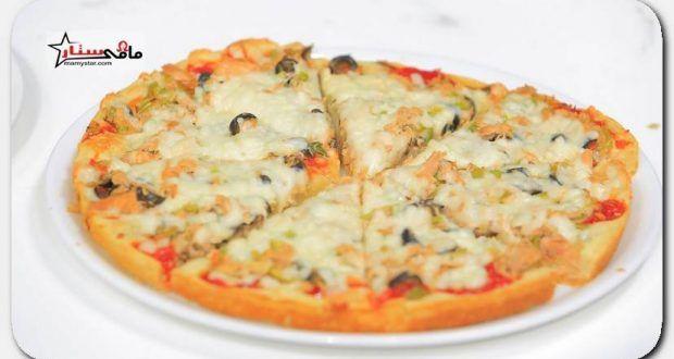 طريقة عمل البيتزا نجلاء الشرشابى Recipes Food Cheese Pizza