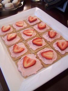 Pink Princess snacks Strawberry yogurt and strawberries