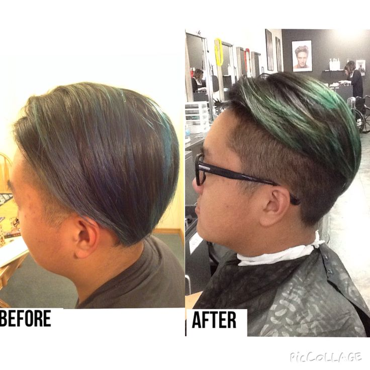 Before And After Menu0027s 90 Degree Haircut With Shaved Sides