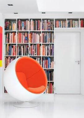 Finnish bubble chair in a Scandinavian home