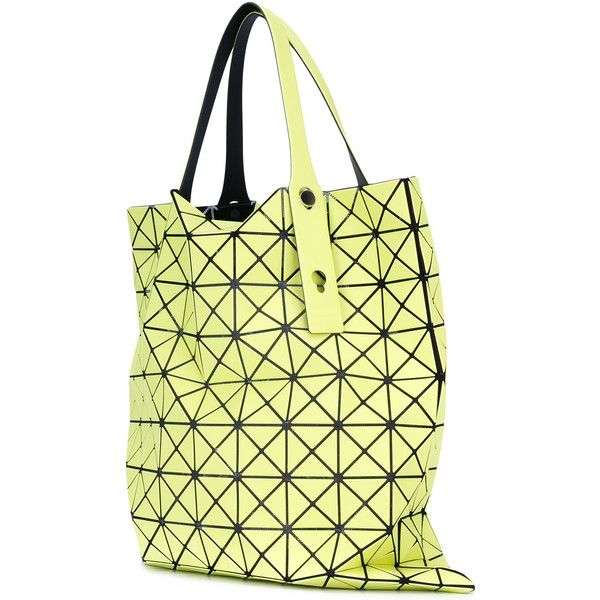 Bao Bao Issey Miyake large Prism tote (55495 DZD) ❤ liked on Polyvore featuring bags, handbags, tote bags, yellow, tote hand bags, yellow tote bag, handbags totes, bao bao by issey miyake and yellow tote handbag