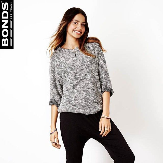 """Take on transeasonal weather with our new women's Light Knit Pullover with 3/4 sleeves. This salt and pepper lightweight knit looks as comfy as it feels.…"""