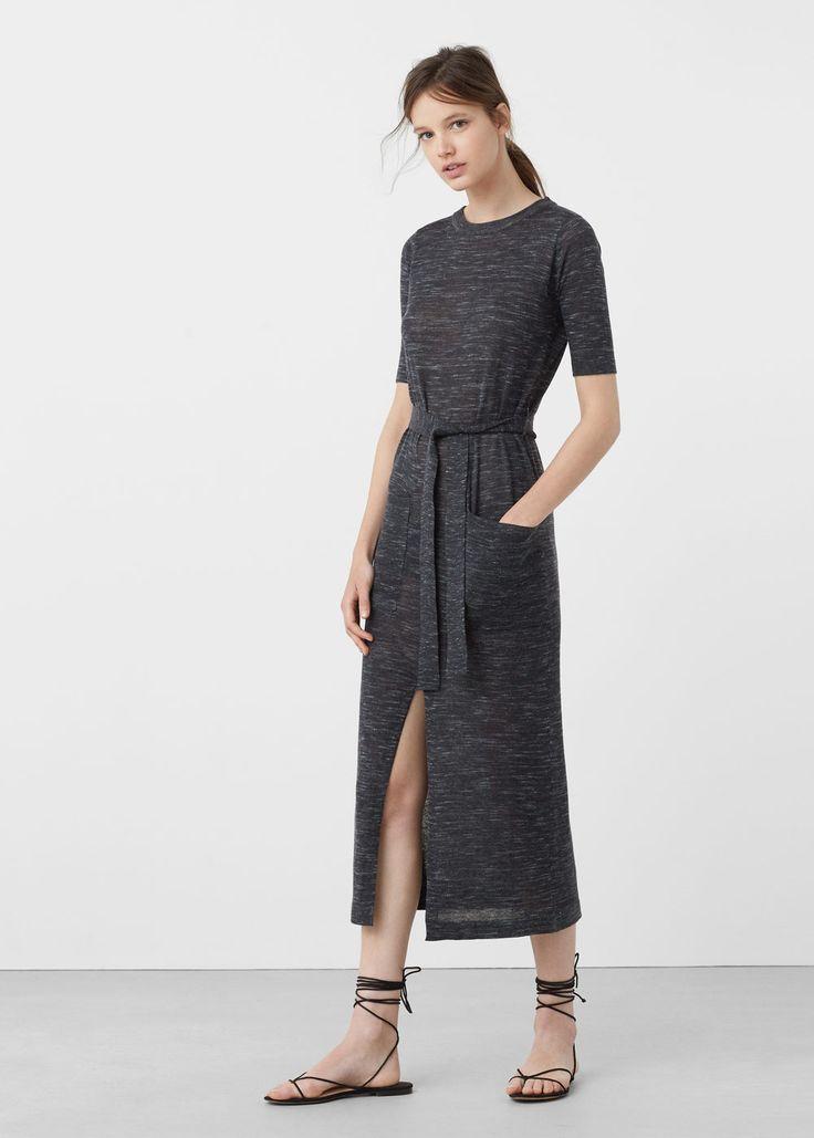 Flecked jersey dress | MANGO