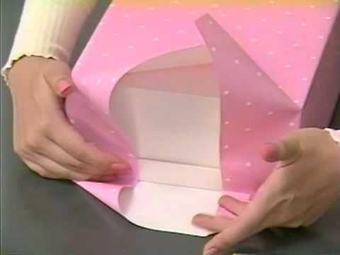 プレゼントの包み方 - ナナメ包み - YouTube