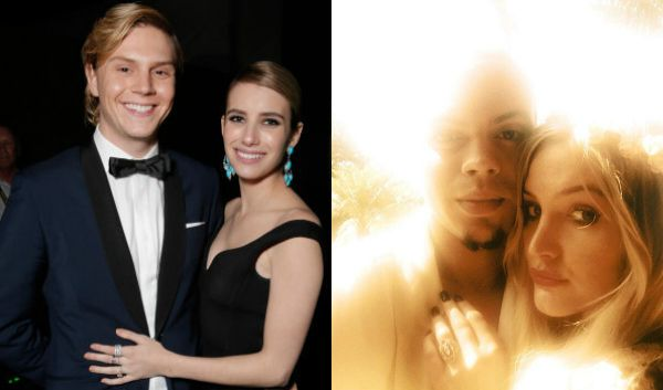 Emma Roberts is engaged to Evan Peters, and Ashlee Simpson is engaged to Evan Ross