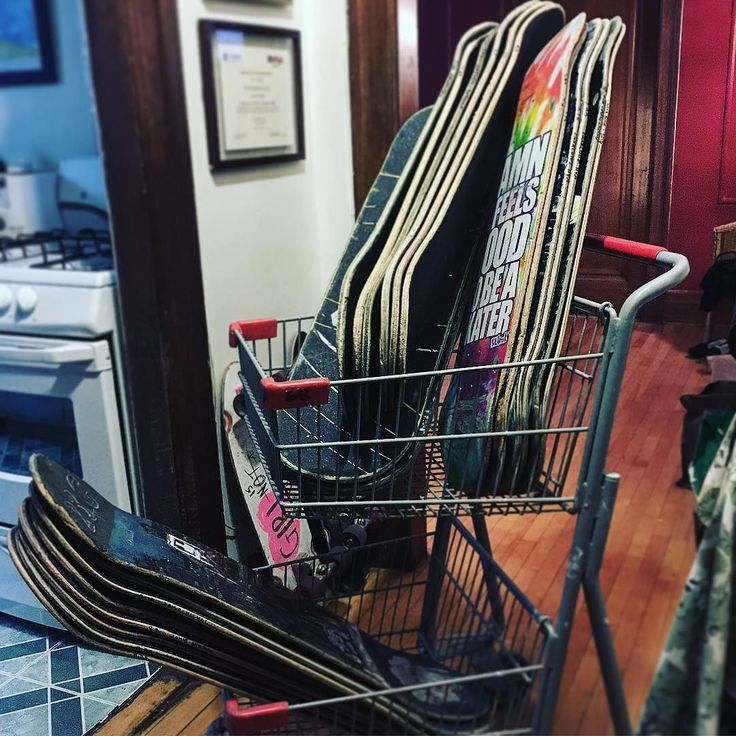 Shopping cart  filled with 30 donated decks heading to Rosemount High School for a REUSE RECYCLE REVOLUTIONIZE ART EXPO. Stay tuned for highlights! #skateeverydamnday #skatecrunch #deckseason #painting #restore #art #art #graffiti #education #highschool #shoppingcart #skatelife #skateboardsforhope #inspire #empowerment #givehope #schoolproject