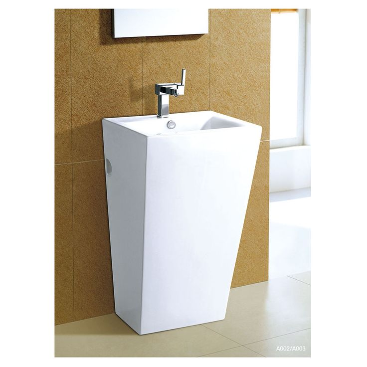 Aurora A003 Square Pedestal Basin 510x460x850mm Masters Home Improvement M