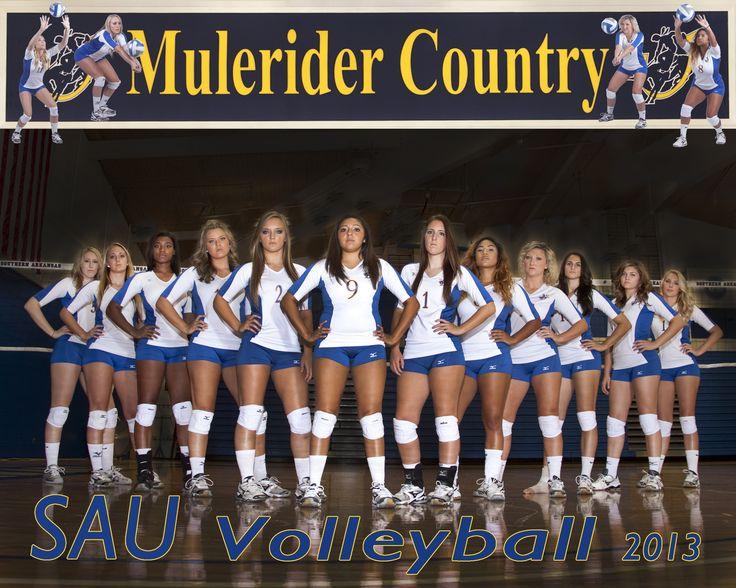 2013 SAU Volleyball Team....Photo courtesy of Grisham Photography