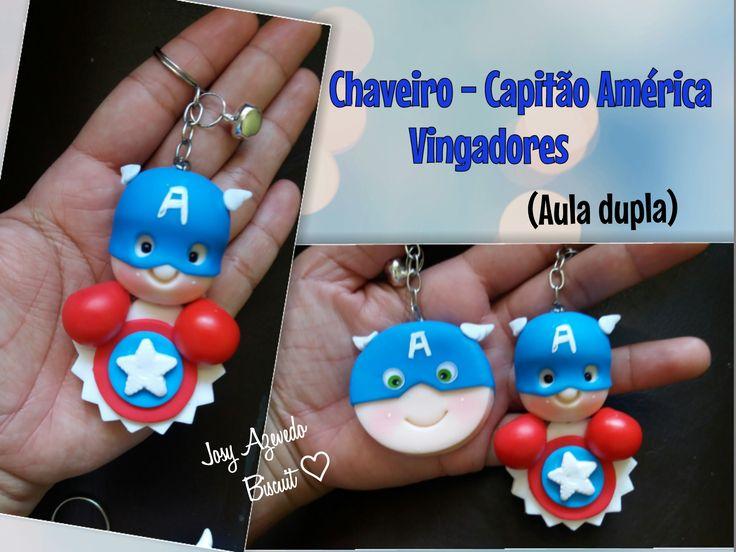 Chaveiro - Capitão América |Aula dupla | #Josybiscuit