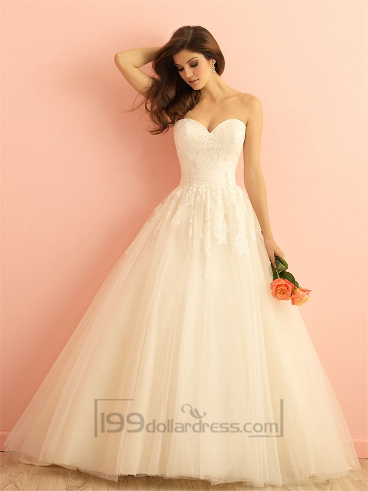 Strapless Sweetheart A-line Ball Gown Wedding Dress