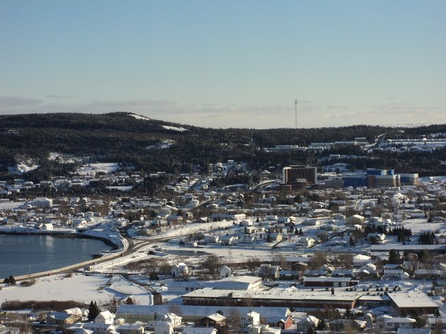 Carbonear, Newfoundland and Labrador Canada Date shot: February 25, 2014 A bright sunny winter day Beautiful shot of Carbonear south