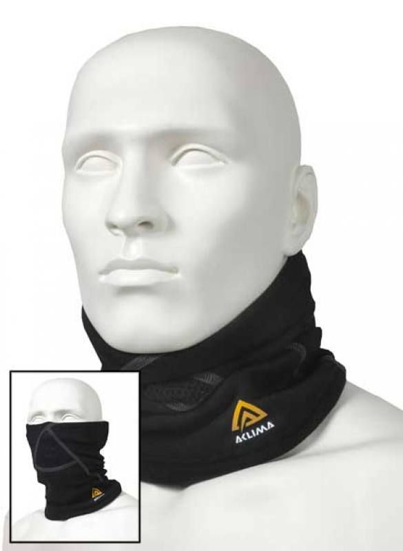 Doppelte Funktion, kann als Halswärmer oder als Hals- und Gesichtswärmer benutzt werden.