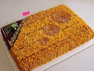 Crop Circle Cake, How To Make A Crop Circle Cake, Cake Recipes, Decorated Cakes, Peggy Weaver