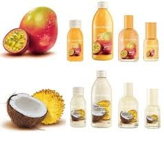 Yves Rocher summer exclusives: mango-passion fruit and coconut-pineapple, yum