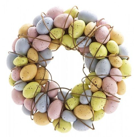 Easter egg pastel wreath