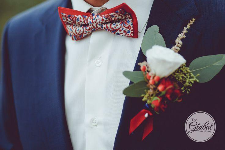 Berry wedding Groom Bow tie Boutonniere Ягодная свадьба Лесные ягоды Образ жениха Бутоньерка Бабочка