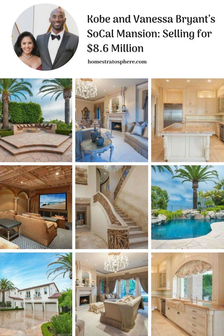 Kobe And Vanessa Bryant S Socal Mansion Selling For 8 6 Million