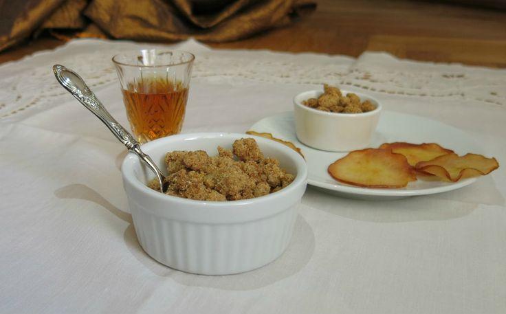 crumble con farina di castagne e farina di mandorle, ovvero un crumble profumato e gluten free. Conosciuto dolce di origine inglese il crumble è composto...