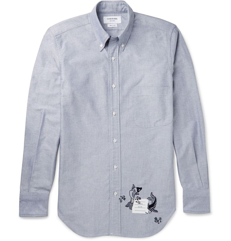Thom Browne - Slim-Fit Embroidered Cotton Shirt