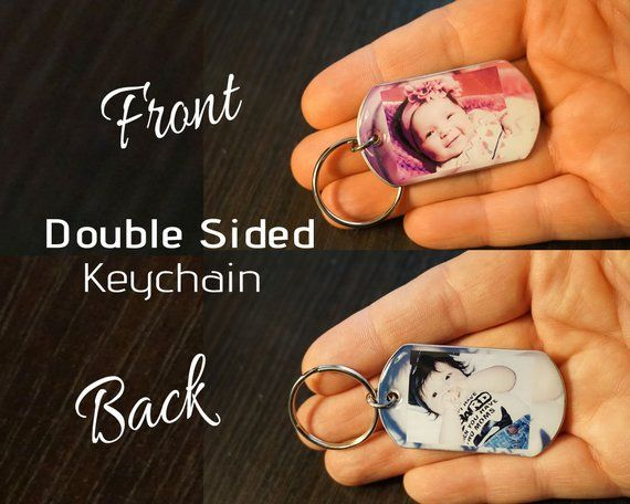 Fathers Day Gift – Double Sided Keychain, Father Day Gift.