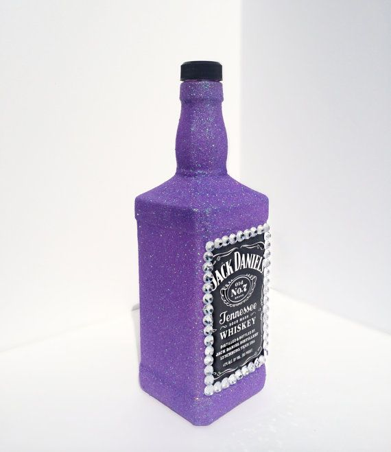 Embellished Glittery Jack Daniels Bottle Home By CraftyyQueenBee