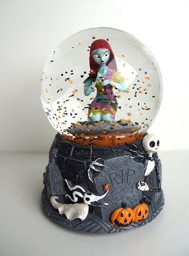 nightmare before Christmas sally musical snow globe