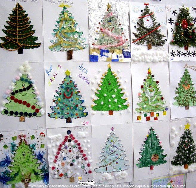 arboles de navidad originales hechos por nios