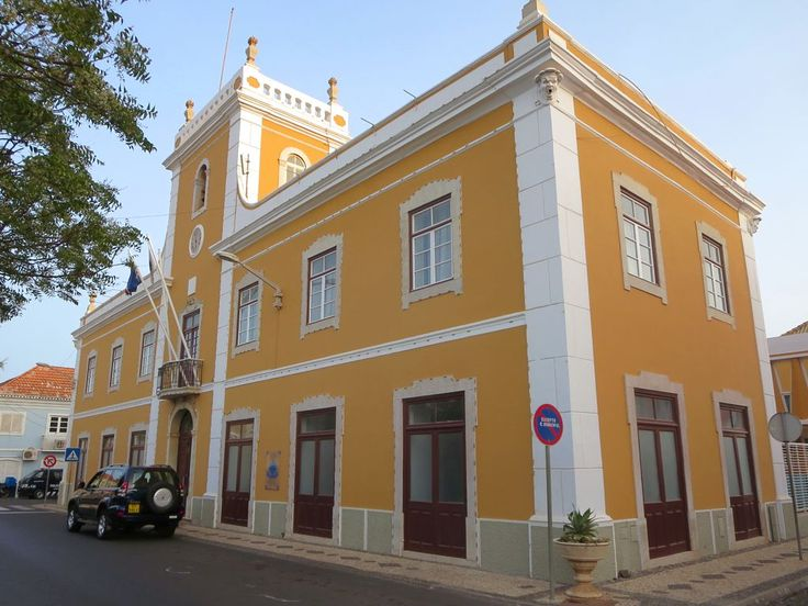 The Câmara Municipal da Praia, facing the main square of the capital Praia on Santiago Island, Cape Verde, was built in the 1920s.