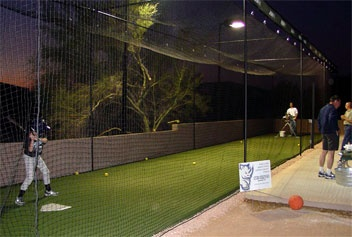 Go to batting cages