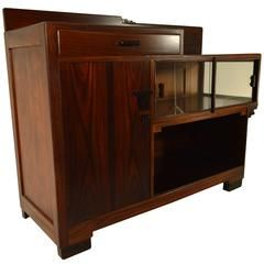Amsterdam School Tea Cabinet in Rosewood with Ebony Details
