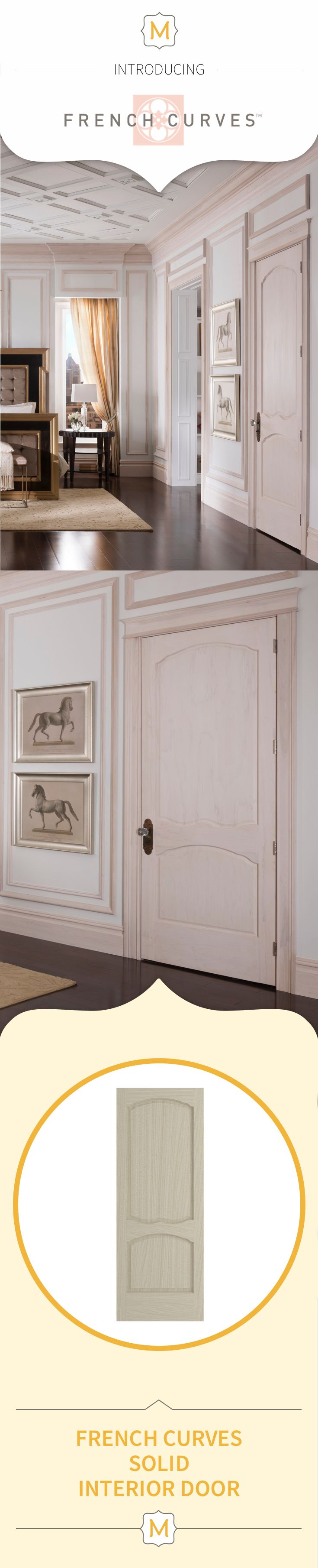 Your bedroom doors don't have to be boring. This Metrie French Curves Collection interior door is anything but ordinary - and that's just the way we like it.