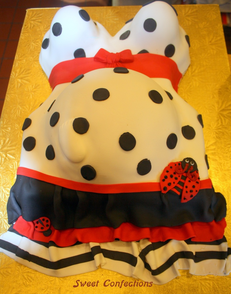 lady bug pregnant lady cake this cake has the little ones foot