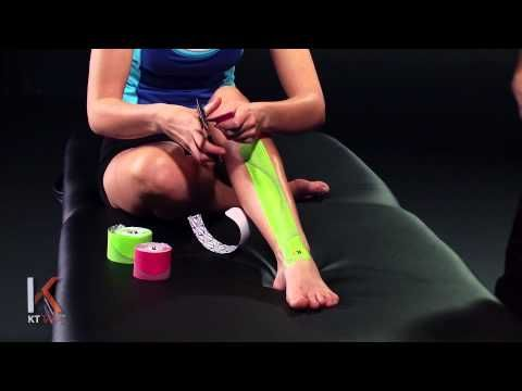 "How to tape for minor injuries. KT Tape: Shin Splints (check out the other instructional videos under ""Instructions"")"