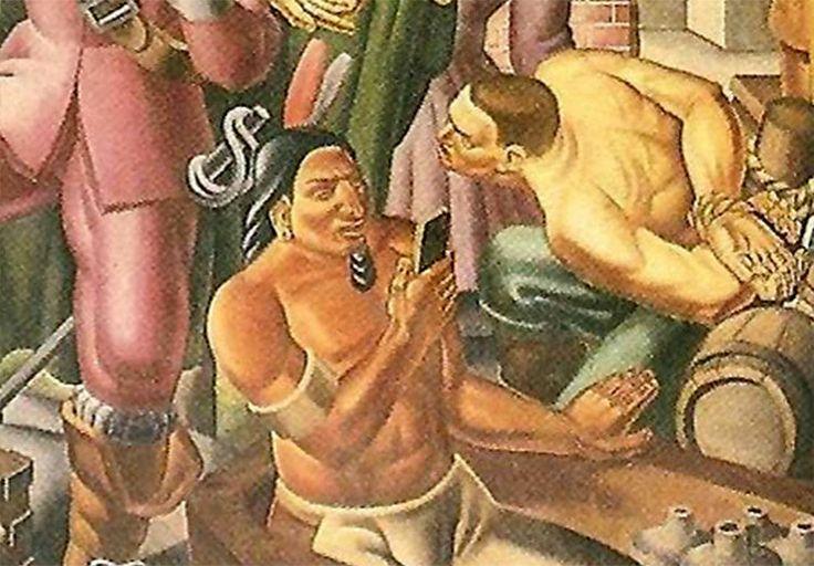Descubren un iPhone de la época colonial en una pintura de hace 80 años