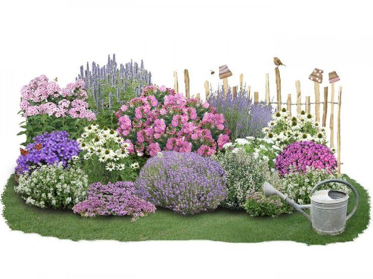 Kreative Einstreuideen für Ihren Garten? Ein komplettes mehrjähriges Blumenbeet mit …   – Garten ohne Rasen