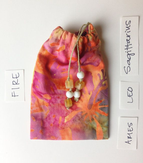 FUOCO Luna Pouch, Batik arancione coppetta mestruale Pouch, perline Diva Cup Pouch, portamonete personalizzati