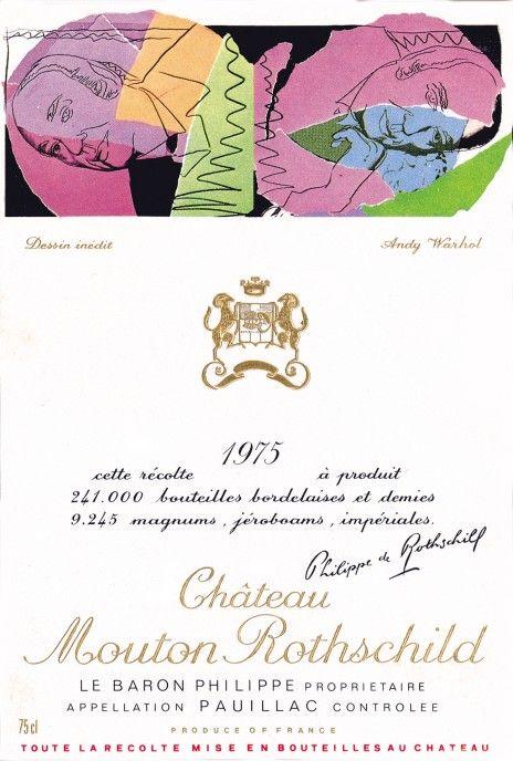 Etiquette Mouton Rothschild 1975  Andy WARHOL