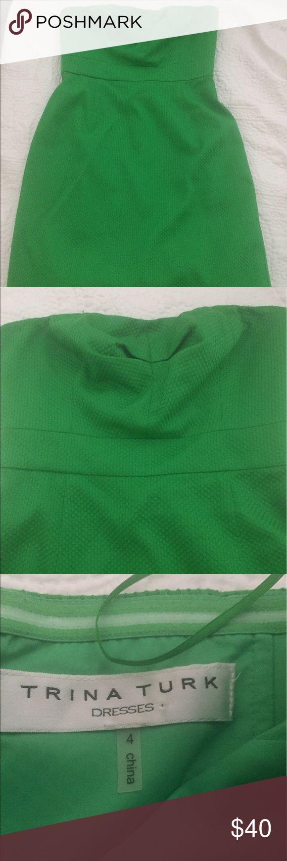 VGUC Green Trina Turk dress Purchased from another Posh user. Beautiful green color Trina Turk Dresses Midi