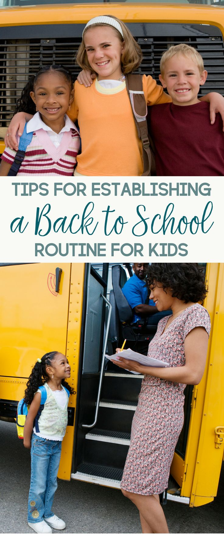 Schools across the country will be back in session soon. Here are 6 tips for establishing a back to school routine for kids.