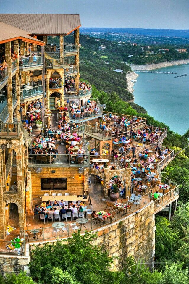 Oasis Restaurant on Lake Travis, Austin, Texas ♡