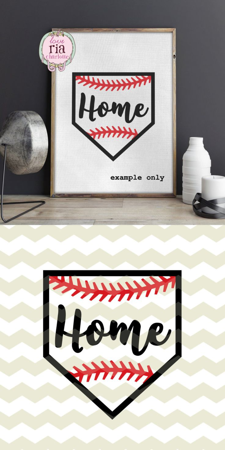 Baseball home plate Home fun sport cutting files