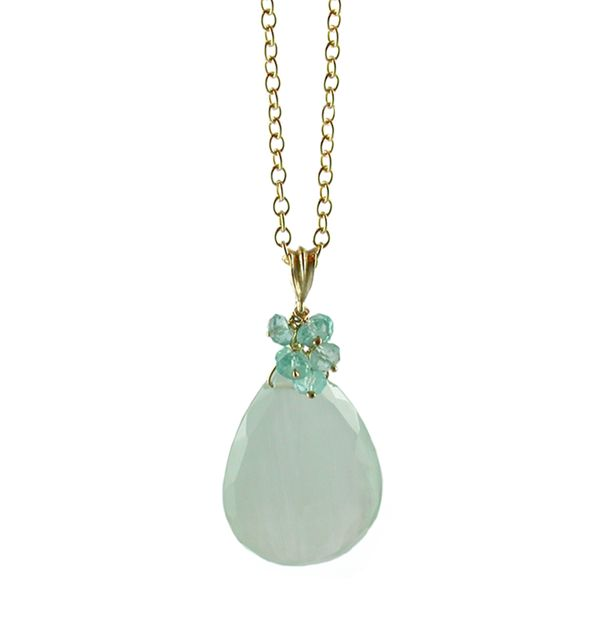 Aquamarine Gold Pendant