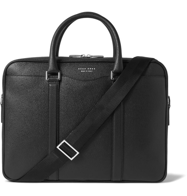 Smart and sophisticated, <a href='http://www.mrporter.com/mens/Designers/Hugo_Boss'>Hugo Boss</a>' Italian-made briefcase is sure to make the right impression in the boardroom and on business trips. This classic black piece is crafted from robust cross-grain leather and has a plush suede-lined interior fitted with several zipped and pouch pockets to stow pens and smaller valuables. Carry it by the top handles or attach the canvas strap to go hands-free.