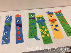 How to make a Monster Felt bookmark - kids crafts - easy crafts - felt crafts, diy felt monster bookmark