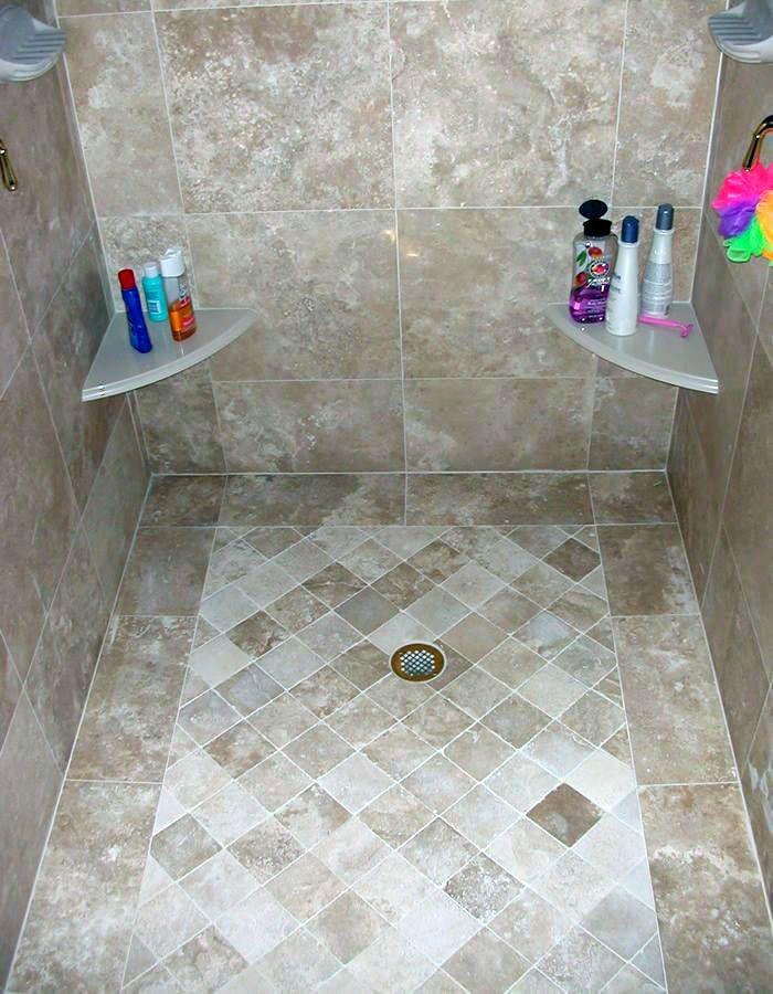 15 Bathrooms With Amazing Tile Flooring Beige Tile Bathroom Travertine Bathroom Shower Floor New top ceramic bathroom floor