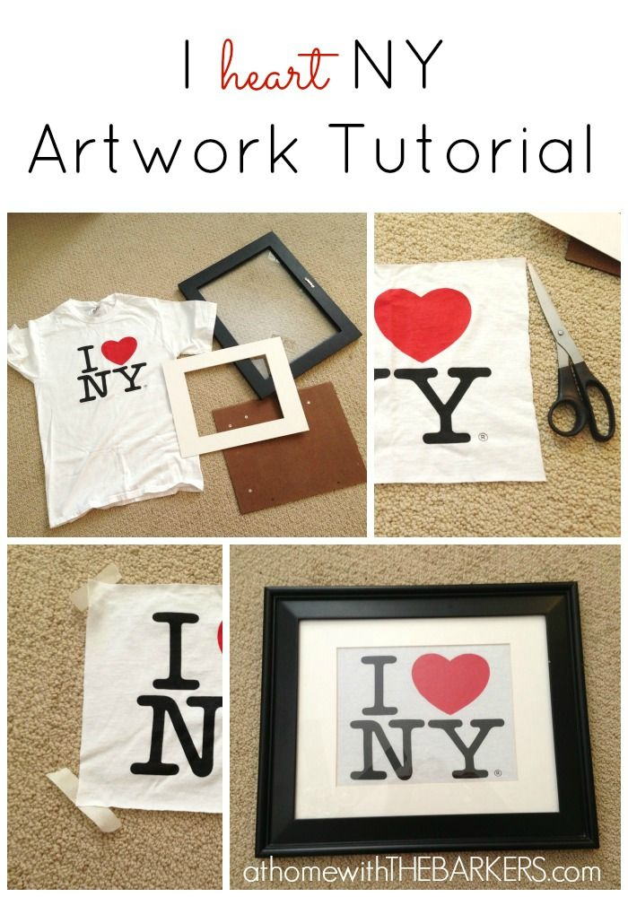 4,07211030This I Heart NY Artwork Tutorial is so easy, I almost could teach it to you with pictures only. But wait, Ia??m a blogger and I love wordsa?i??So a few word | See more about Artworks, Gallery Walls and Shirts.