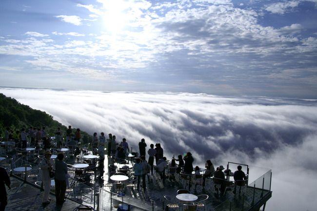 北海道アルファリゾート・トマムの「雲海テラス」
