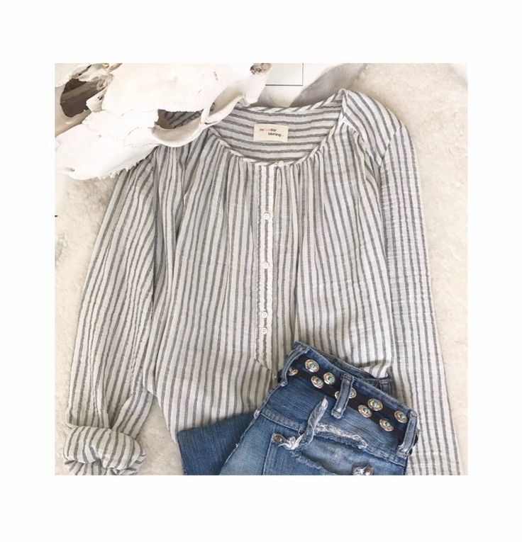 Beautiful striped cotton blouse Spring summer 17 collection  www.mysunday-morning.fr