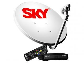 kit Antena e Receptor Flex Pré-pago - Sky