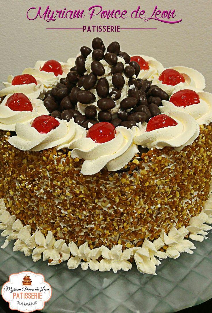 Torta de mani caramelizado